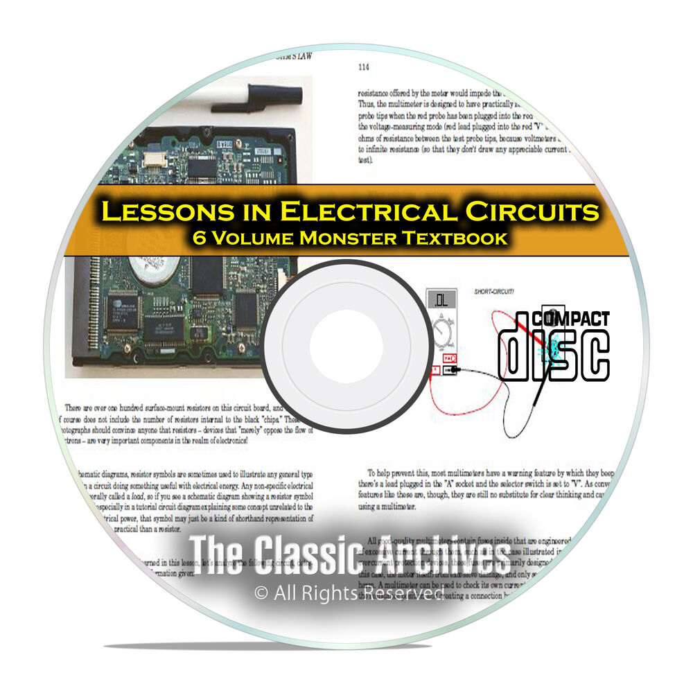 Lessons in Electrical Circuits Electric Electronics 6 Volume Course ...