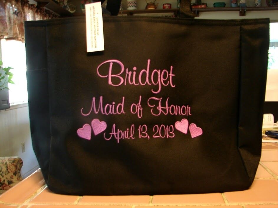 Wedding Gift For Bride From Bridesmaid : Bride WEDDING TOTE Bag GIFT BRIDESMAID PERSONALIZED BRIDAL PARTY ...