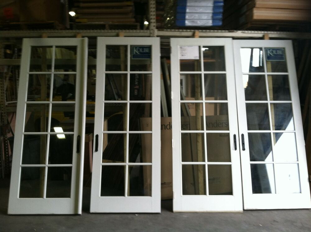 Kolbe double french exterior door impact glass ebay for Exterior double doors with glass