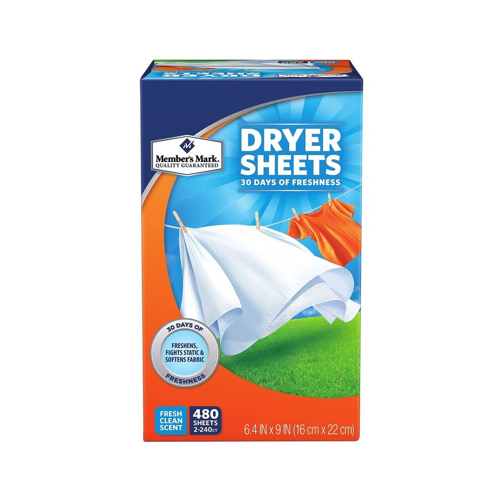 Fresh clean scented fabric softener sheets 500 per package ebay - Wash white sheets keep fresh ...