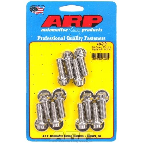 ARP 434-2101 Small Block Chevy Stainless Steel 12pt Intake