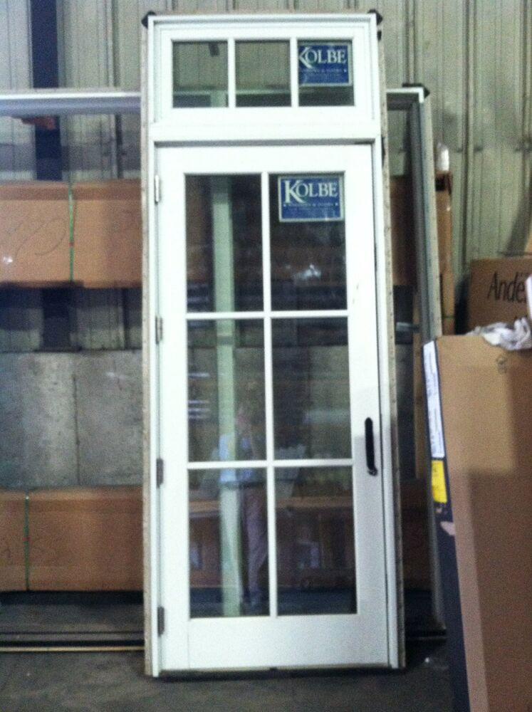 Kolbe exterior french door with transom impact glass ebay for French front doors with glass