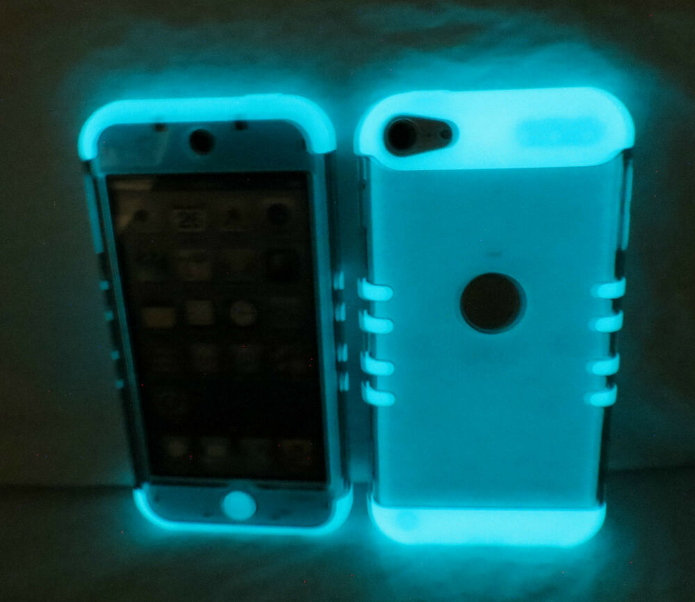 ipod touch 5th 6th gen transparent smoke glow hybrid cover. Black Bedroom Furniture Sets. Home Design Ideas