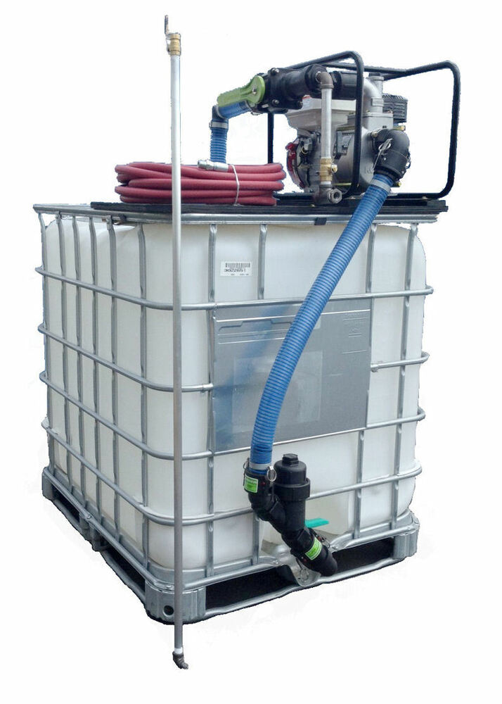 275 Gal Poly Tote With Sealcoating Equipment Spray System