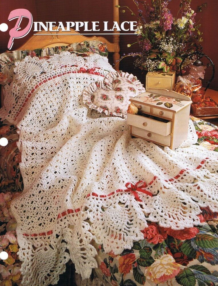 Annies Attic Crochet : Pineapple Lace Annies Attic Crochet Afghan Pattern Instructions ...