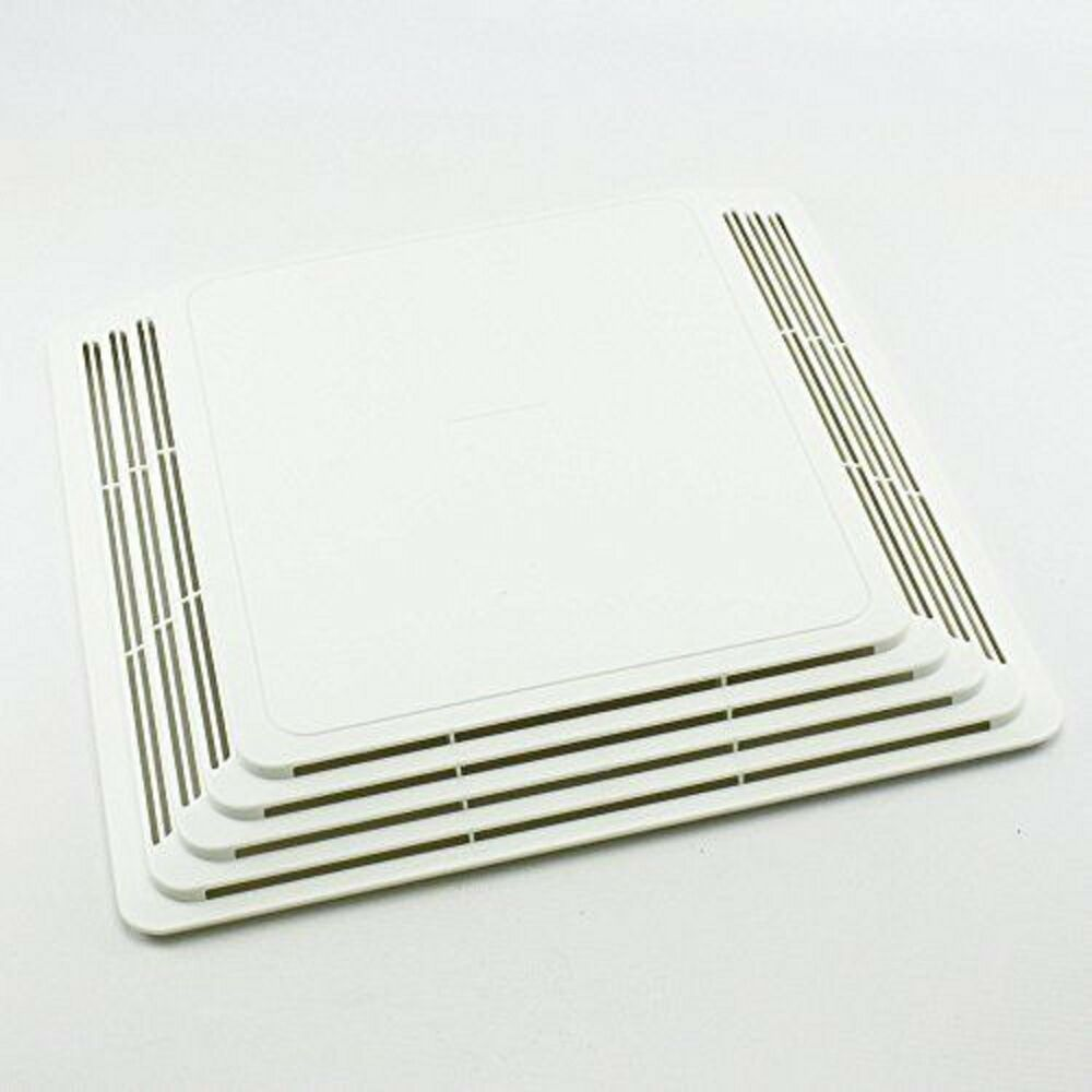 Broan plastic grille w spring for bathroom bath for Bathroom exhaust fan cover