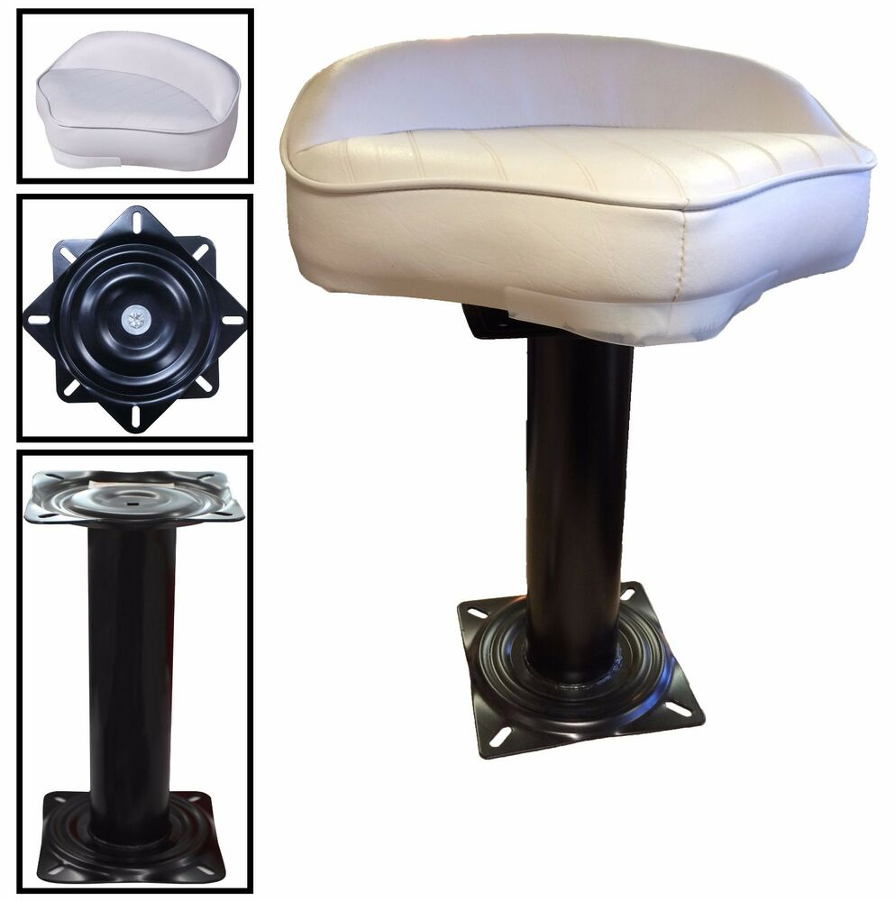 White Fishing Butt Boat Seat With Swivel And Pedestal