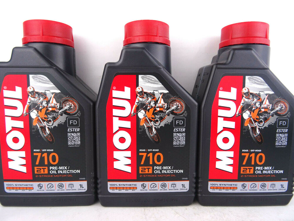 motul 710 2t motorrad l 2 takt l motor l misch l vollsynthetisch 3x 1 liter ebay. Black Bedroom Furniture Sets. Home Design Ideas