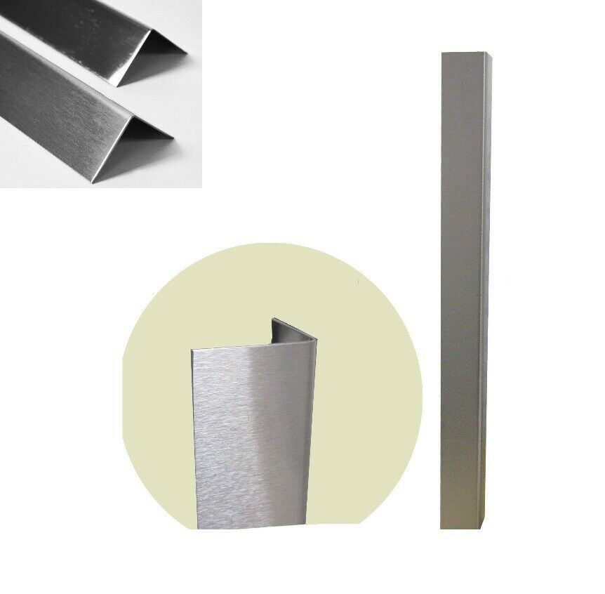 Satin stainless steel corner protector protection