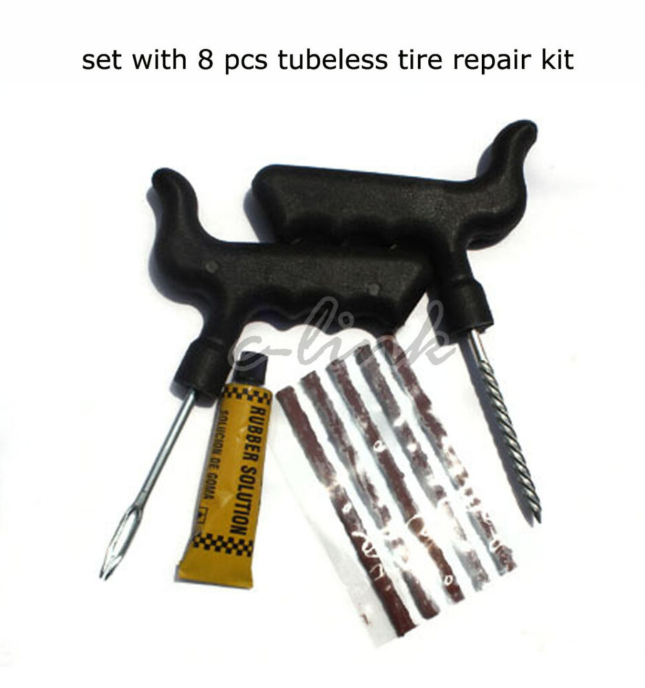 Car Auto Motor Tubeless Tires Tyre Repair Kit Tool Puncture Plug Patch Fix Tools | eBay