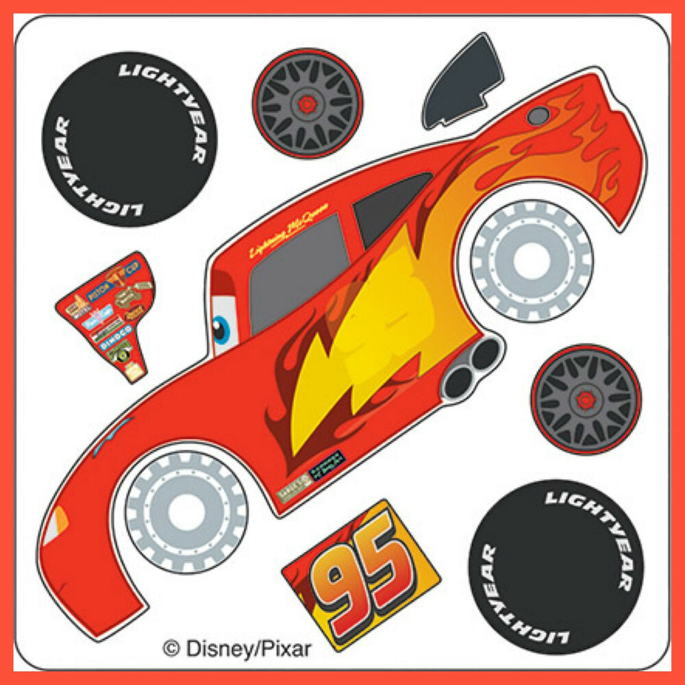 Disney Cars Stickers - Make Your Own Lightning McQueen - Birthday Party Favours : eBay