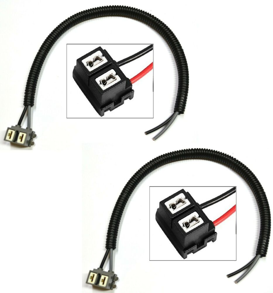 extension wire pigtail female h7 two harness head light low beam plug replace oe