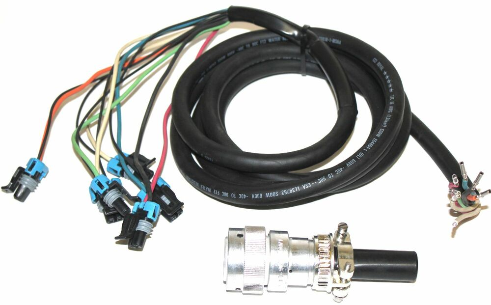 genius 8 pin deutsch harness for bobcat, quick attach ... bobcat wiring schematic 751 bobcat wiring harness #11