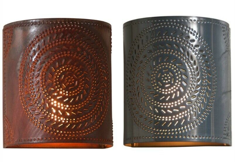 Lighting Pattern: PUNCHED TIN WALL SCONCE Light Country Chisel Pattern 2