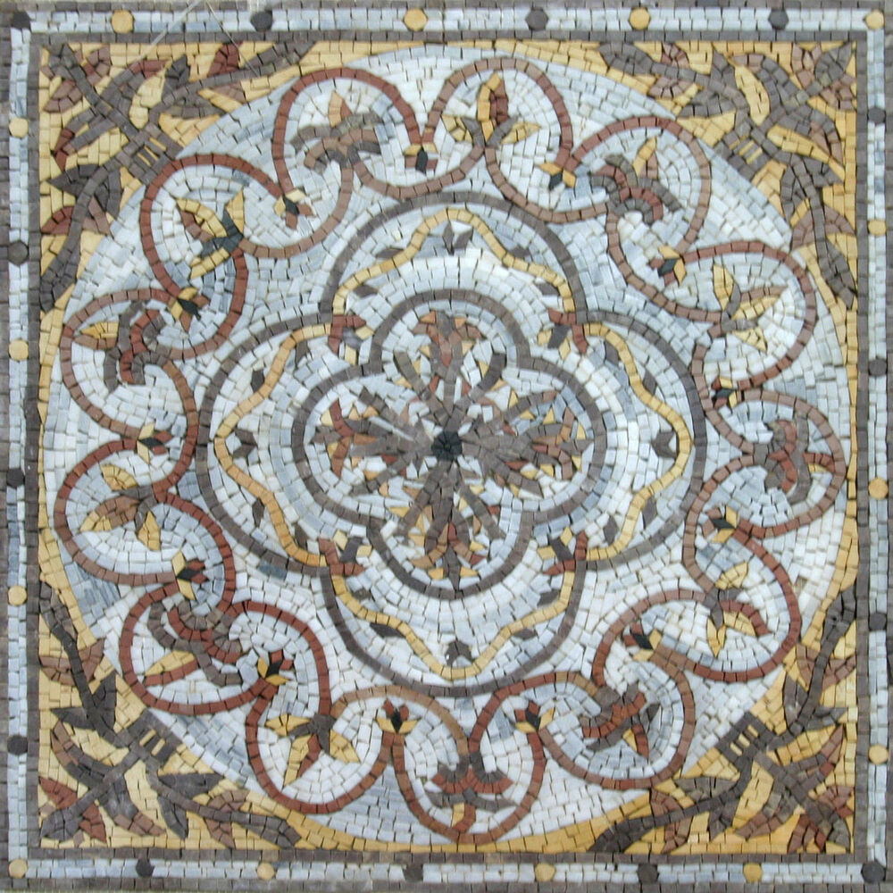 Vines design pool garden home decor marble mosaic geo1023 for Mosaic home decor