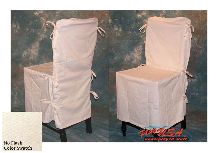 2 Natural / Cream POTTERY BARN Dining Chair SLIP COVERS