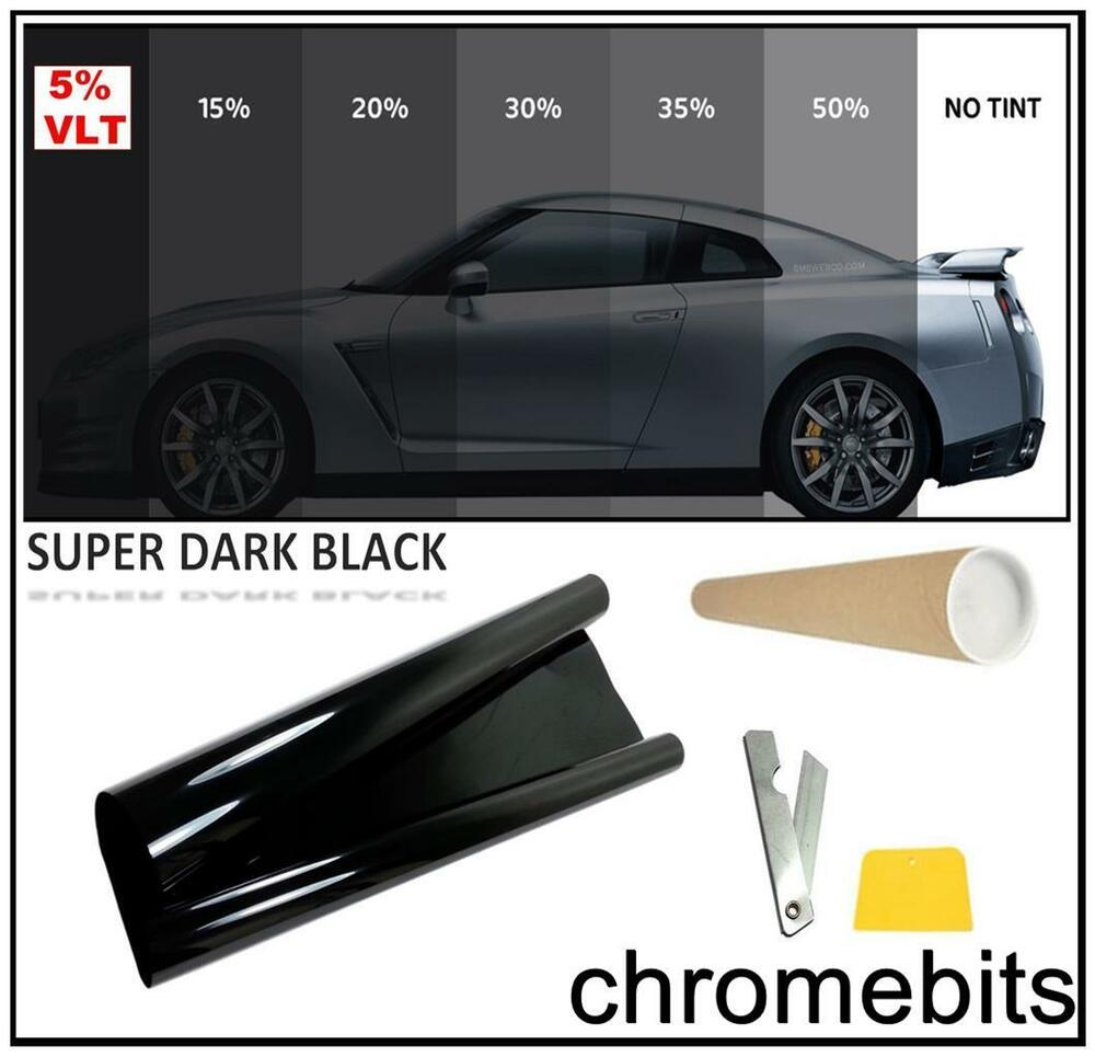 Car window tint film tinting super dark black limo 5 76cm for 2 for 1 window tinting