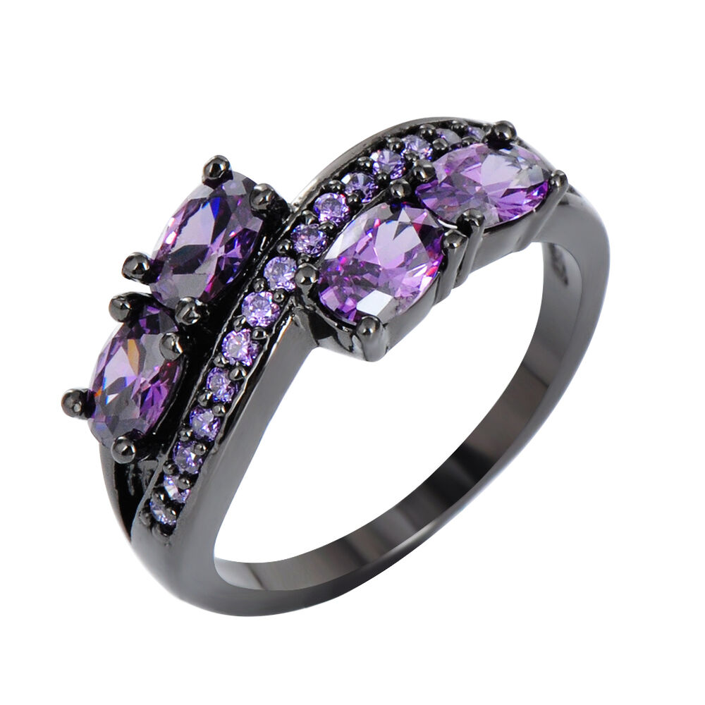 Oval Purple Amethyst Women's Black Gold Filled Engagement. Soundwave Rings. Dwarven Wedding Rings. Wedding Phoenix Wedding Rings. Officially Yours Engagement Rings. Lock Wedding Rings. Finger Wedding Rings. Purple Box Wedding Rings. Kind Wedding Wedding Rings