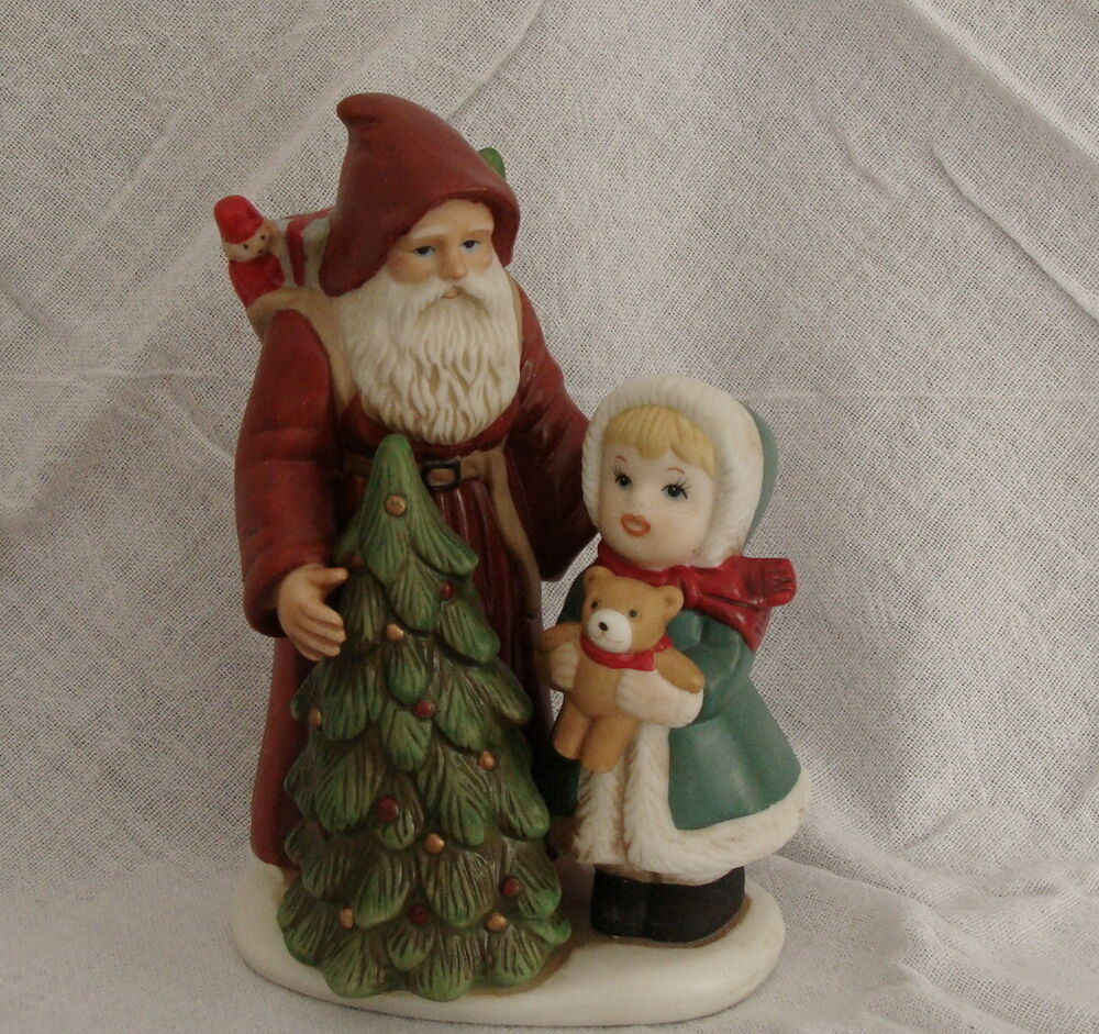 Vintage homco home interiors santa little girl christmas Eba home interior figurines