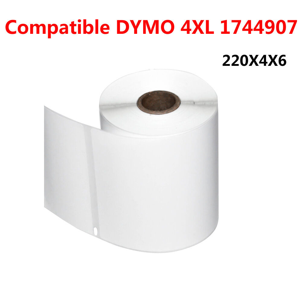 4 rolls thermal shipping labels 220 roll 4x6 compatible for Dymo 4x6 label printer