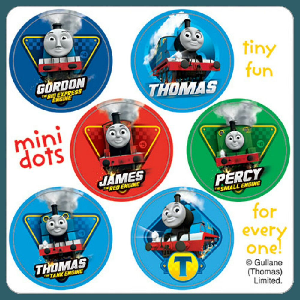 Thomas the Tank Engine Stickers - 48 Dots - 8 Sheets ...