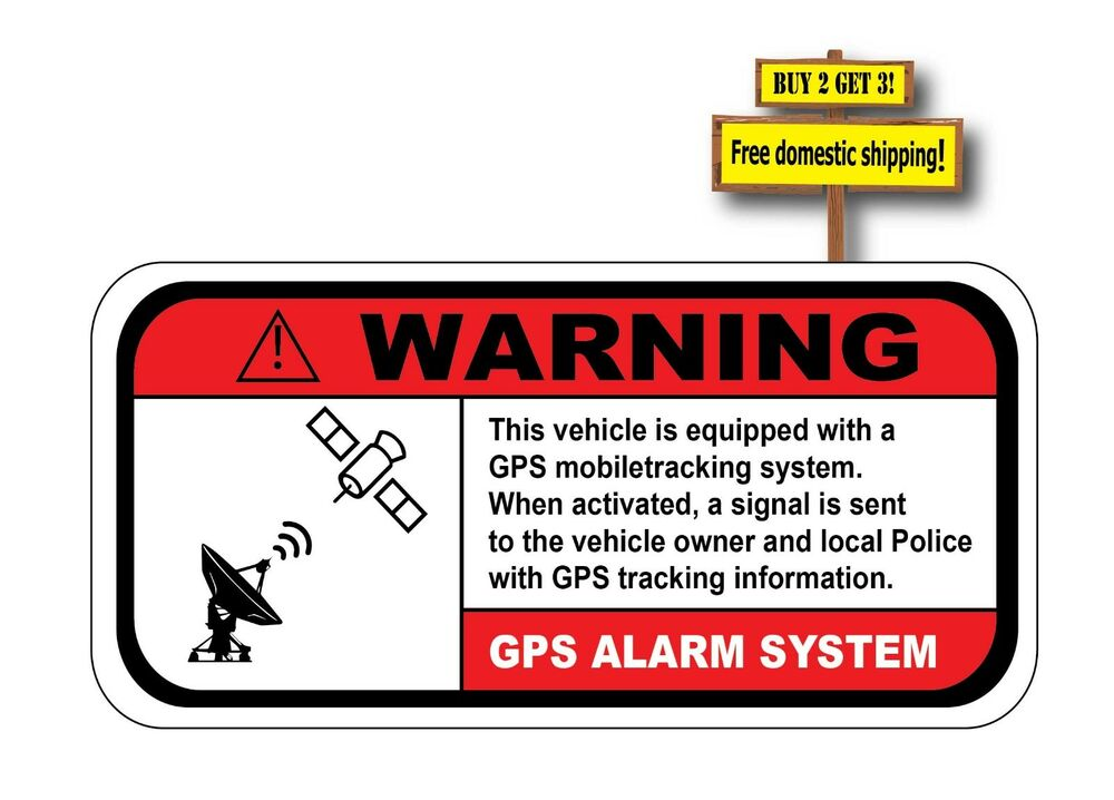 warning gps alarm system vehicle equipped don 39 t steal my. Black Bedroom Furniture Sets. Home Design Ideas