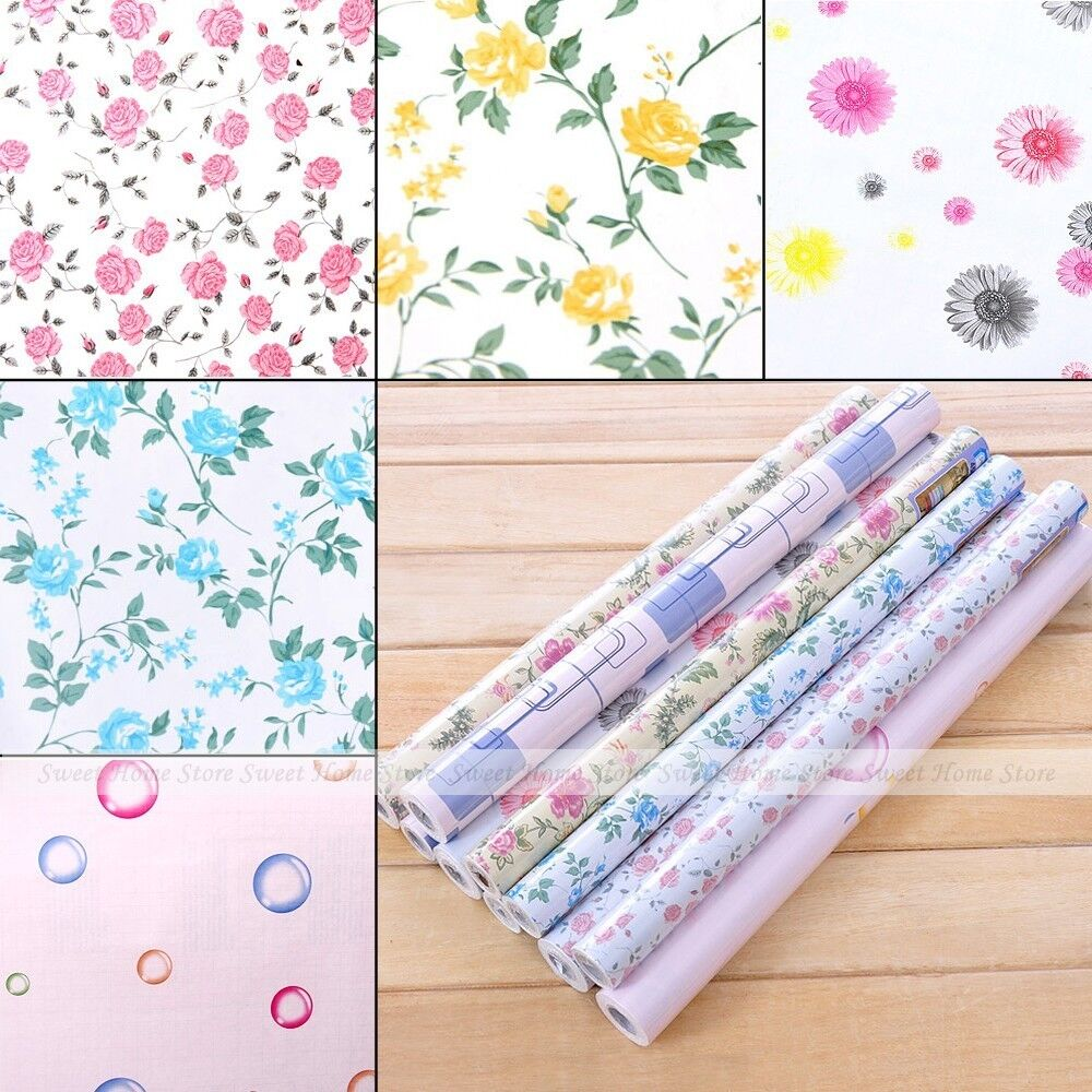 shelf liner paper rural flower shelf drawer liner self adhesive contact 10342