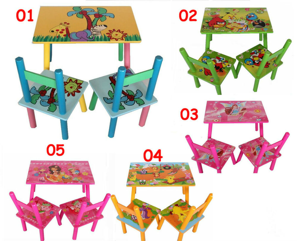 Children kids toddler wood wooden table 2 chairs set boys for Kids chairs for boys
