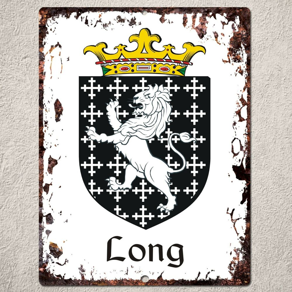 PP000067 FAMILY CREST Sign Rustic Parking Plate Home Restaurant Cafe Gift Dec