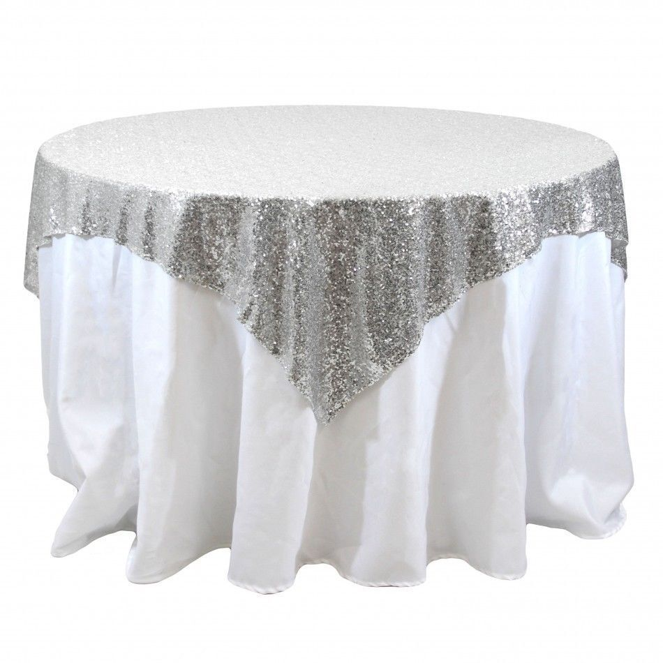 Sequins Table Overlay 54 Quot X 54 Quot Sparkly Tablecloth 4 Colors
