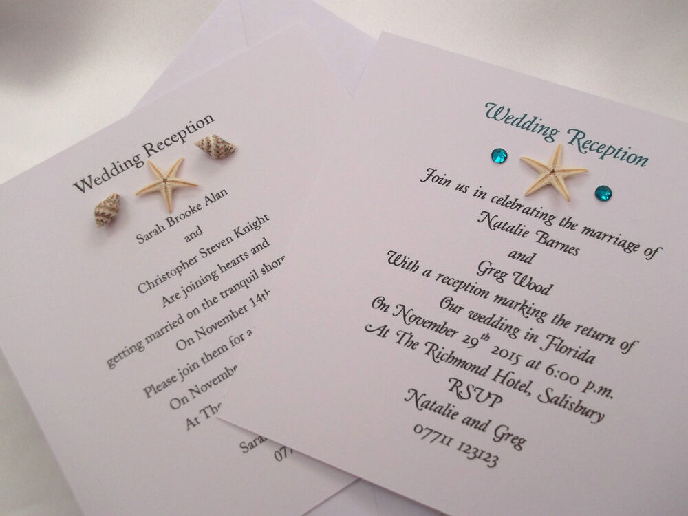 Evening Wedding Reception Invitations: Personalised Evening Reception/Wedding Invitations