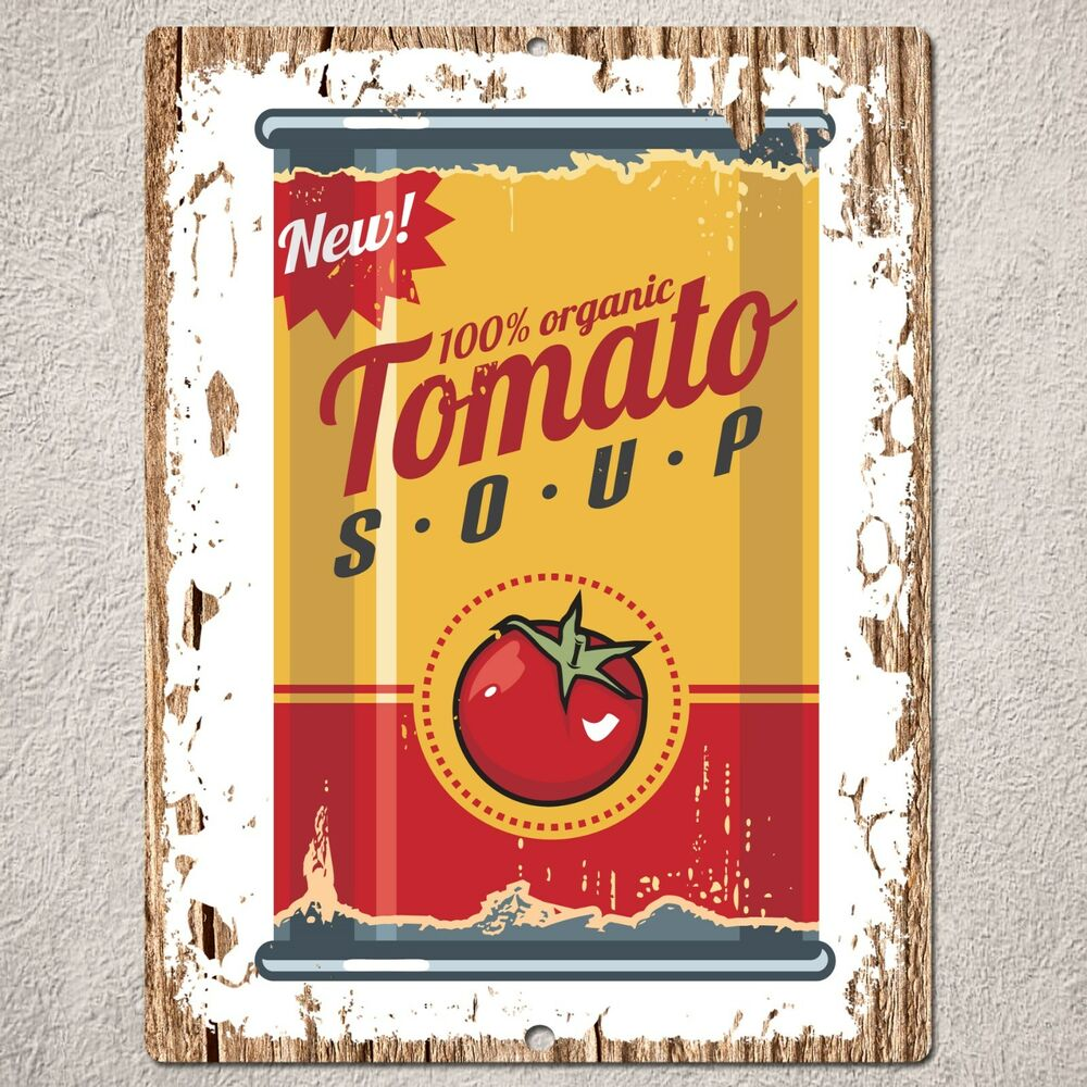 pp0169 rust vintage can food product sign home restaurant art decoration kit for interior home and wedding