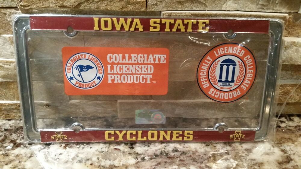 Officially Licensed Iowa State Cyclones Metal License
