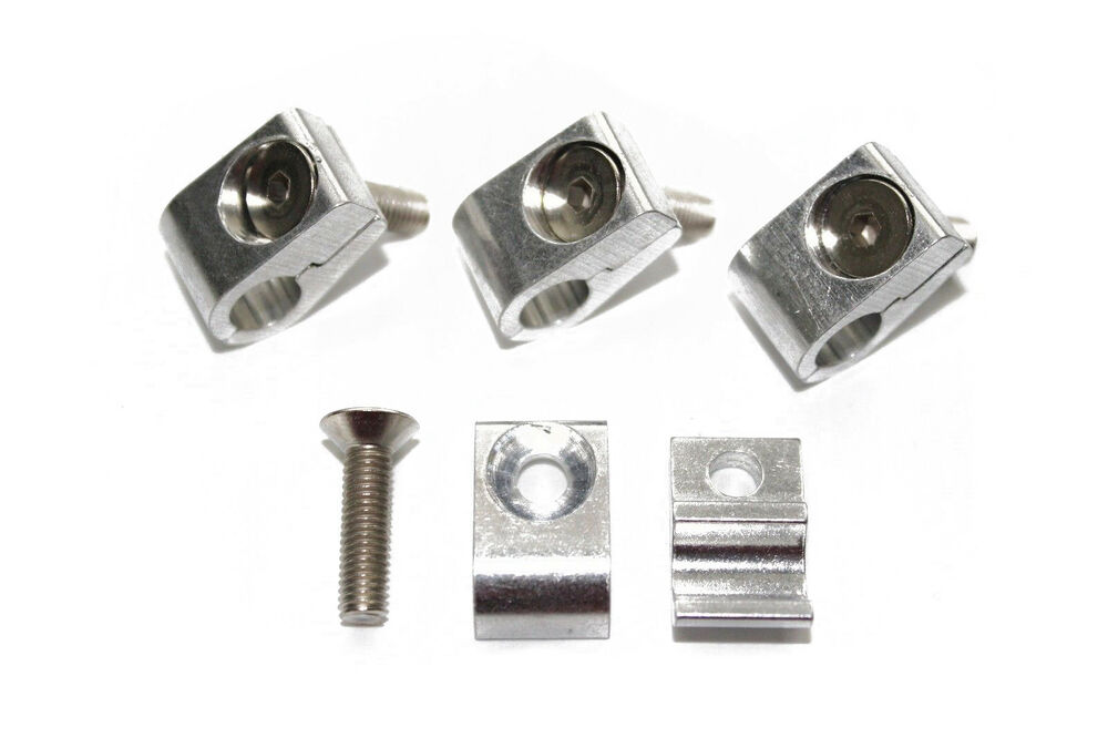 Brake Line Clamps : Quot aluminum line clamps one hole strap brake