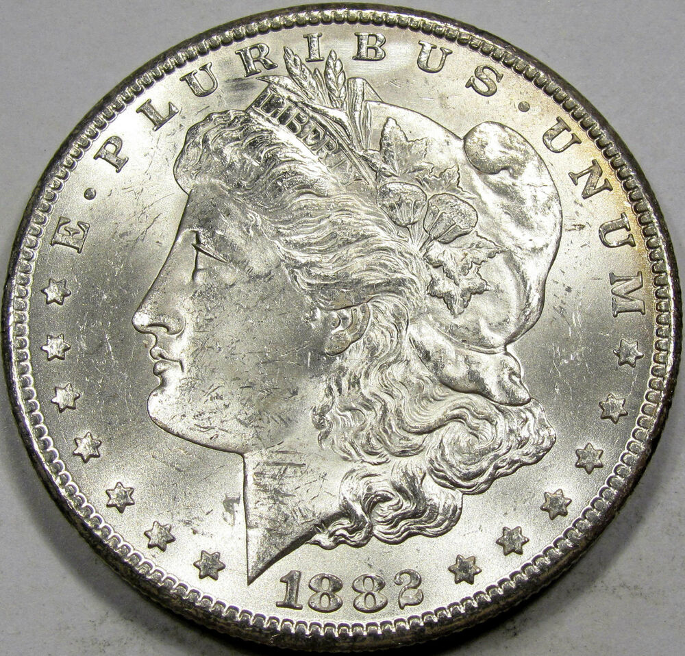 1882 Cc Morgan Silver Dollar Choice Bu Ms A Blazer