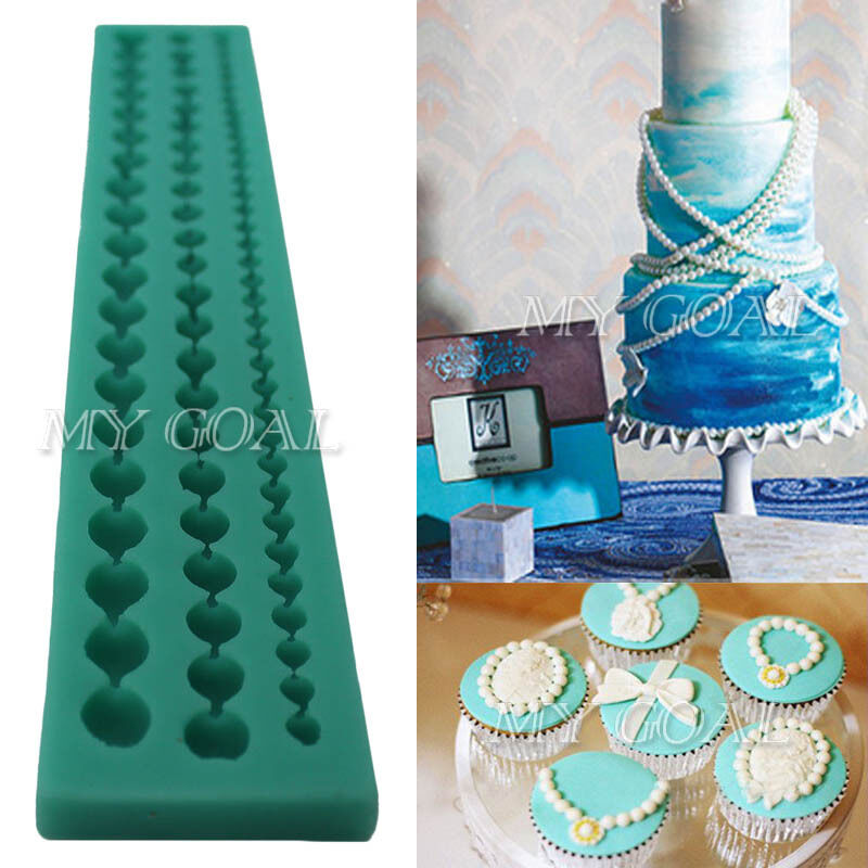 3 Sizes Pearl String Beads Silicone Mold Cake Decorating ...