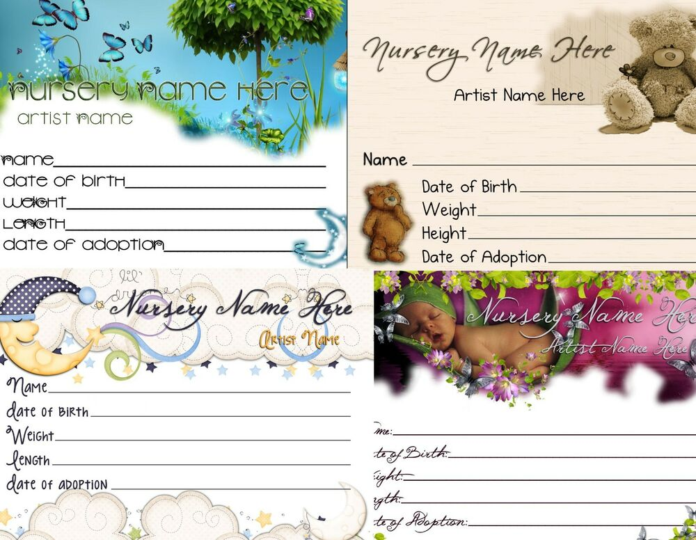Reborn Birth Certificate Template