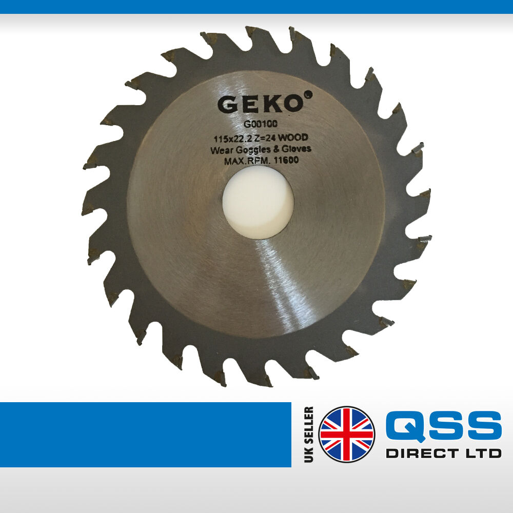 Angle Grinders Saw Blades Set 115x22 Pack Of 2 For Wood