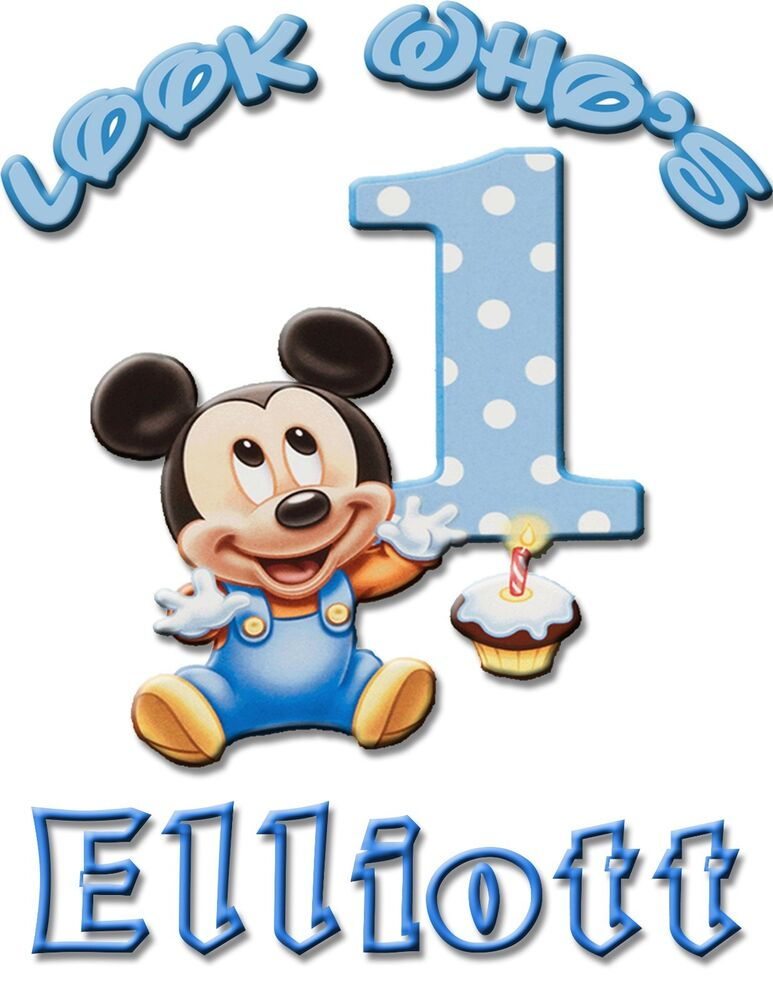 Personalize Custom Mickey Mouse 1st Birthday T Shirt Party ...