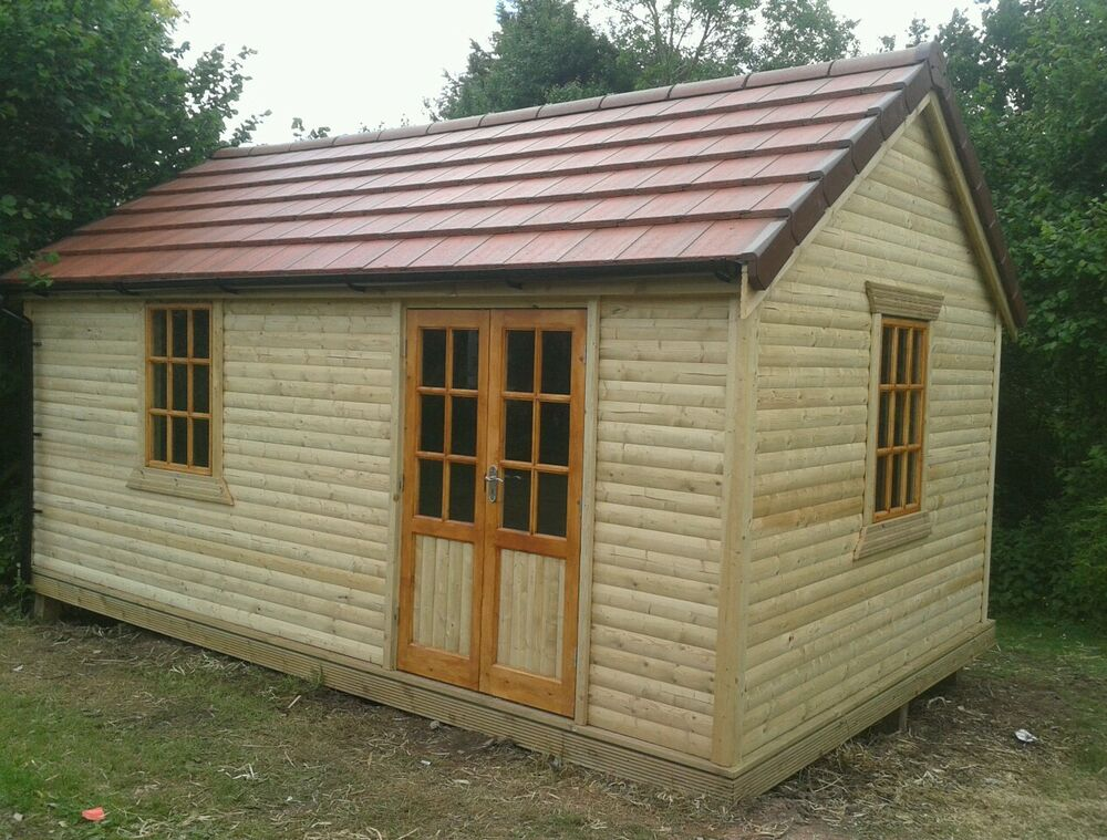 Luxurytimber framed workshop summerhouse shed gym all for Garden shed gym