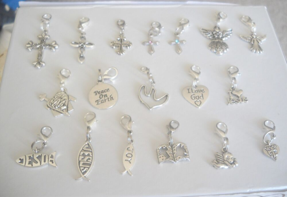 christian religious theme dangle charms for floating charm