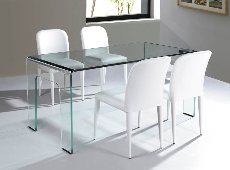 Cristallo Glass Dining Table Desk EBay