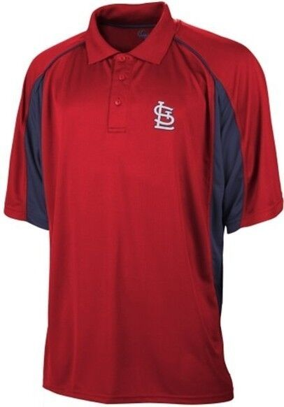 St louis cardinals mlb majestic men 39 s birdseye red polo for Polo shirts tall sizes