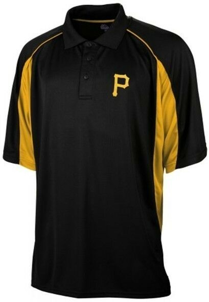 Pittsburgh Pirates Mlb Majestic Men 39 S Birdseye Black Polo