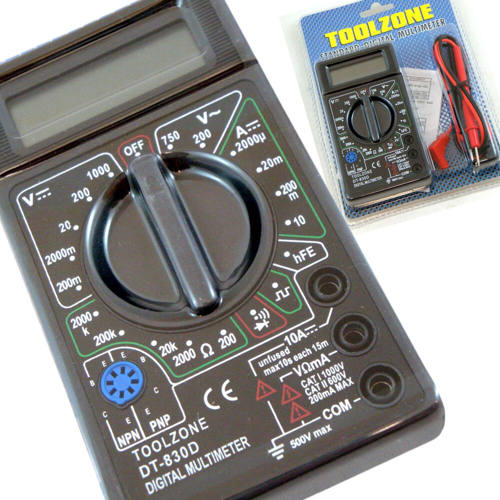 Circuit Tester Equipment : Digital multimeter circuit tester multi testing meter test