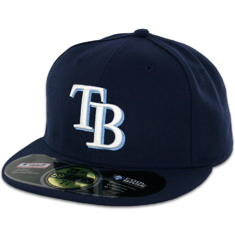 ta bay rays navy new era 59fifty fitted caps mlb