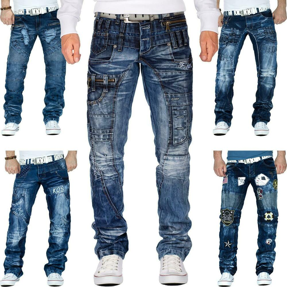 kosmo lupo herren jeans cargo star hose denim dope swag zipper clubwear nieten ebay. Black Bedroom Furniture Sets. Home Design Ideas