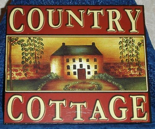 Country Cottage Wood Sign Rustic Cabin Home Decor 9 3 4 X
