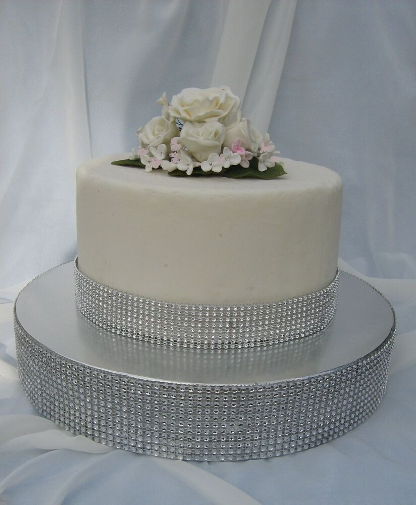 CAKE STAND WEDDINGCAKE BASE WEDDING CAKE RISER DIAMOND MESH CAKE STAND