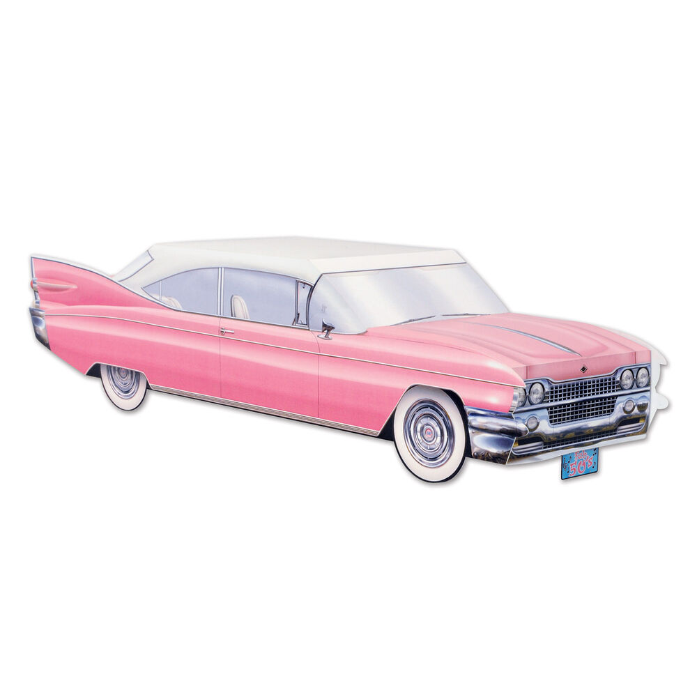 50s grease sock hop party decoration pink cruisin car